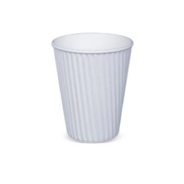 Item R719S0001 - Ly giấy lượn sóng 2 lớp màu trắng - RIBBED HOTCUP WHITE - 12oz