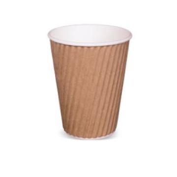 Item R719S0015 - Ly giấy lượn sóng 2 lớp màu nâu - RIBBED HOTCUP BROWN - 12oz