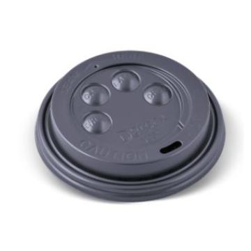Item V051S0029 -  Nắp đen cho ly 2 lớp 12oz - Button Hot Cup Lid - BLACK - 12/16/20oz