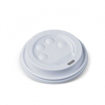Item V053S0001 - Nắp trắng cho ly 2 lớp 8oz - Hot Cup Lid - WHITE - 8oz