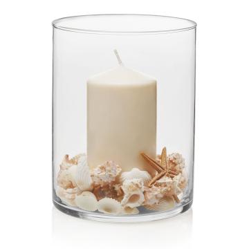 Item 2555 - Bình hoa thủy tinh Wide Cylinder Vase ĐK 16cm