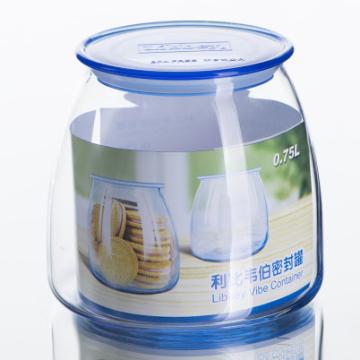 Item 502F - Hũ thủy tinh Misty Blue Vibe Jar With Lid - 750ml