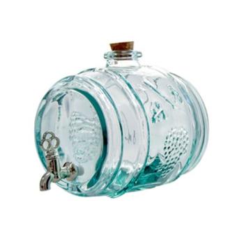 Item V5103 - Bình nước thủy tinh tái chế BARRIL RACIMOS 2L.