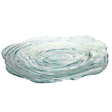 Item V7551 - Dĩa thủy tinh tái chế PLATO TORNADO