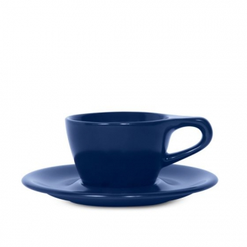 Item LINOBLU180CS - LINO Double Cappuccino Cup/Saucer - Dark Blue - 180ml