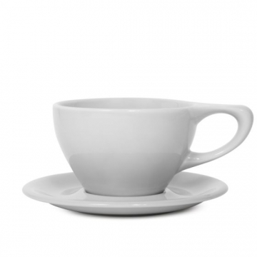 Item 01501515R - LINO Large Latte Cup/Saucer - Light Gray - 355ml