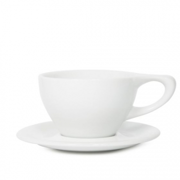 Item 01501500R - LINO Large Latte Cup/Saucer - White  - 355ml