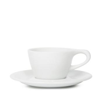 Item LINOWHT150CS - LINO Single Cappuccino Cup/Saucer - White - 150ml