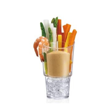 Item SD-4 - Khay nhựa Acrylic Veggie Sticks & Dip On Ice, Set of 4