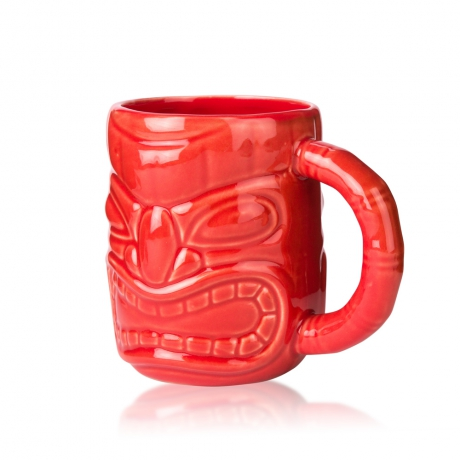 Ly Sứ Libbey Tiki ceramic mug Red s0