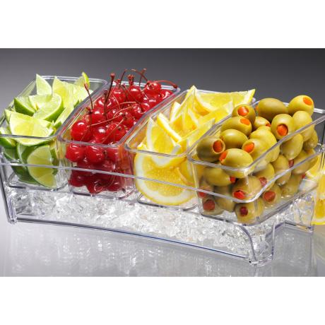 Thố Trưng Bày & Phục Vụ Đồ Ăn Giữ Mát  Condiment Bar On Ice s0